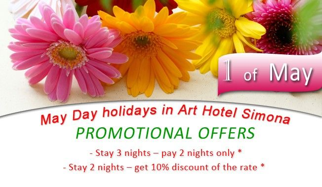 May Day holidays in Art Hotel Simona