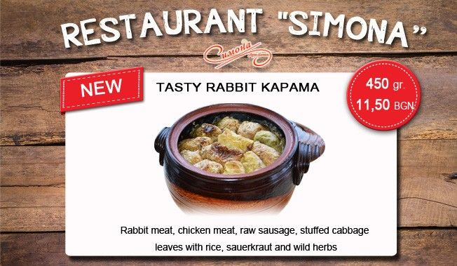 "Tasty rabbit kapama in restaurant ""Simona"""